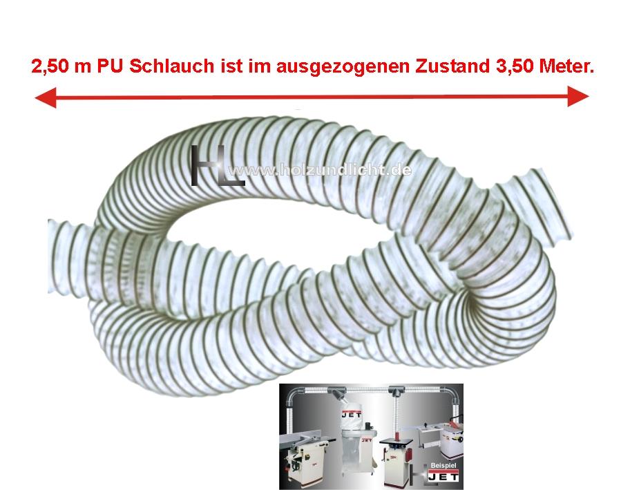 Deutsche Herstellung Absaugschlauch 250 mm PU-Schlauch