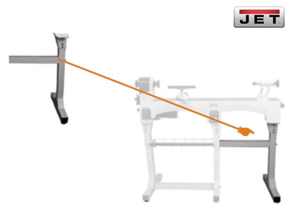 JET Maschinenbettverlängerung 560 mm für JWL-1221VS Drechselbank